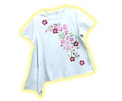 手持ちの服がステンシルで大変身「春の花を描こう」